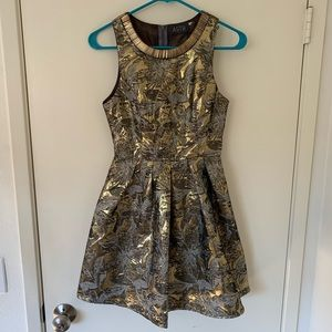 EUC ASTR New Year's Eve gold foil dress XS